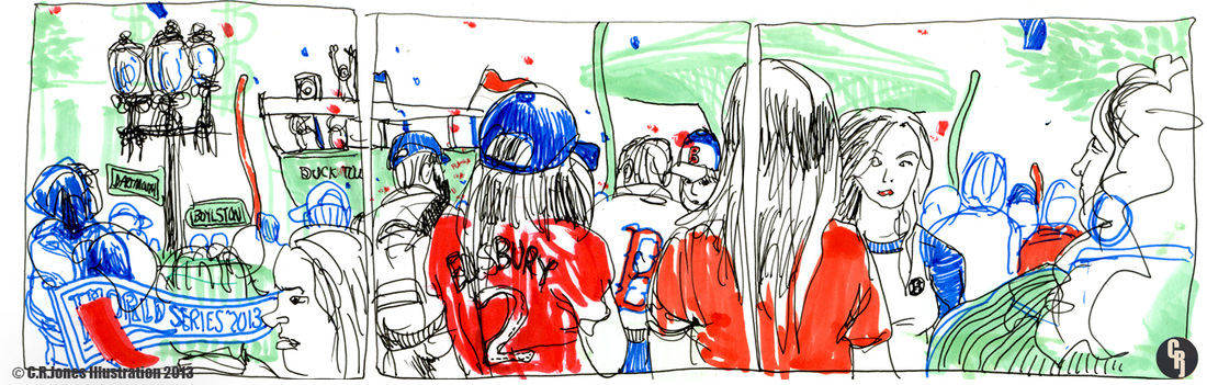 Red Sox Rolling Rally Illustration